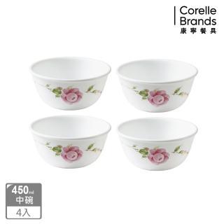 【CORELLE 康寧】田園玫瑰4件式餐盤組(402)