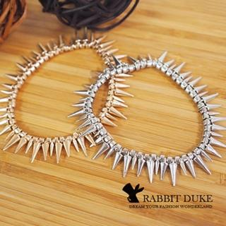 【RD 兔子公爵】現貨 經典歐美風格 個性龐克鉚釘排列金屬手環(二色)