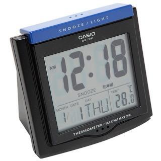 【CASIO 卡西歐】大字幕數位電子溫度鬧鐘(黑-DQ-750F-1DF)