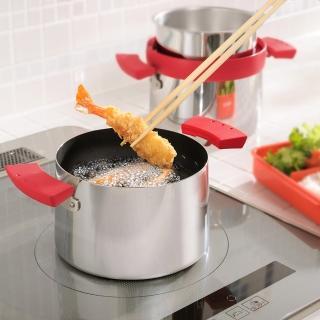 【UCHICOOK】日本製健康兩用油炸鍋 濾油壺 保存壺(3種功能一鍋完成)