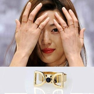【Bling Q】韓國來自星星的你千頌伊領結造型戒指