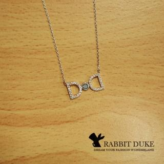 【RD 兔子公爵】現貨 經典歐美風格 個性925純銀蝴蝶結鑲寶石氣質款項鍊 全智賢款(二色)