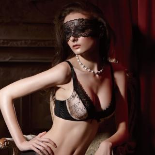 【La Felino】法蘭西斯卡3/4無縫泡棉款B-E罩杯內衣(奢華金)