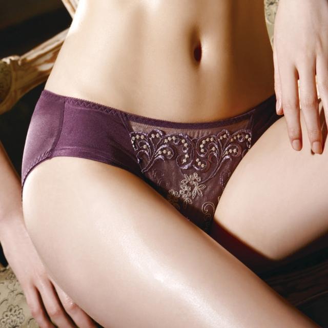 【La Felino】夢迴威尼斯三角褲(奢華紫)