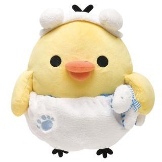 【San-X】San-X 拉拉熊我愛北極熊系列毛絨公仔 M(小雞)
