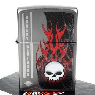 【ZIPPO】美系-哈雷-Harley-Davidson SKULL(骷髏圖案設計打火機)