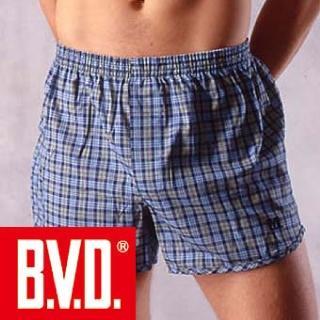 【BVD】100%純棉原染四角平口褲(5件組)