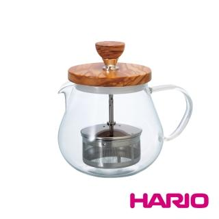 【HARIO】橄欖木濾壓茶壺450ml(TEO-45-OV)