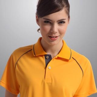 【Sunrise】明媚亮橘★短袖POLO女版襯衫(88112-1)