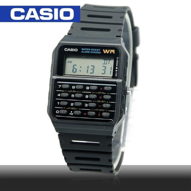 【CASIO 卡西歐】日系-復古風電子運動錶(CA-53W)
