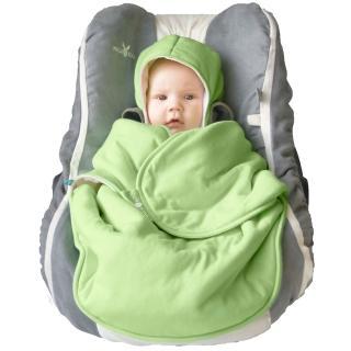 【荷蘭 wallaboo】海天使輕巧嬰兒抱袋/包巾(蘋果綠)