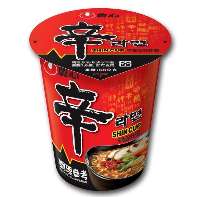 【NONG SHIM】農心 辛香菇杯麵(68g)