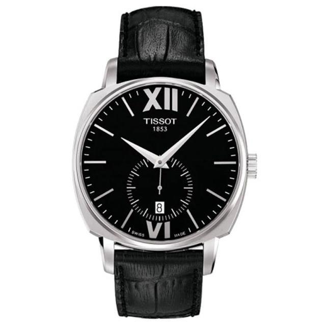 【TISSOT】T-Lord 都會紳士小秒針機械腕錶-黑/40mm(T0595281605800)