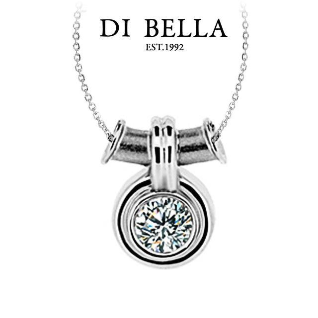 【DI BELLA】閃亮 0.30克拉F/VS2八心八箭美鑽墜鍊(30分)