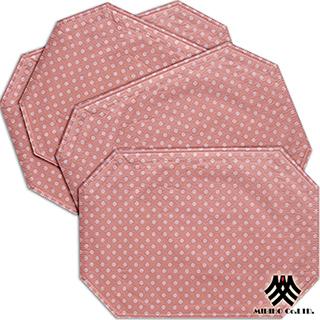 【M.B.H─坎蒂糖果】PVC防潑水餐墊(粉紅4入)