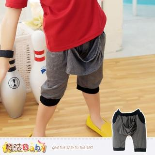 【魔法Baby】男童短褲-韓版哈倫短褲-男童裝(k34707)