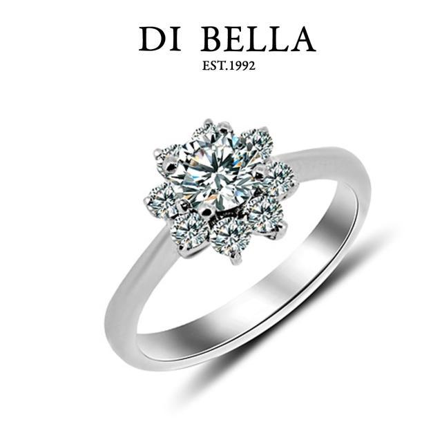 【DI BELLA】Alluring 0.30克拉H&A八心八箭美鑽戒指