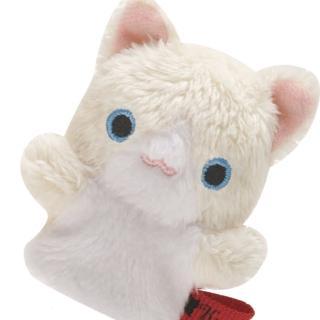【San-X】San-X 小襪貓音樂幸運草系列毛絨指偶小公仔(波斯貓)