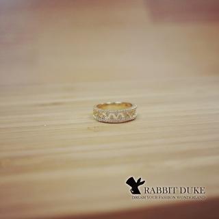 【RD 兔子公爵】現貨 經典歐美風格 個性中寬版挖空鑲排鑽璀璨戒指(單色)