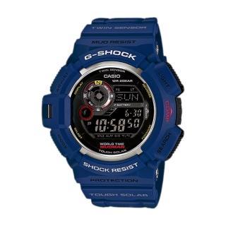 【CASIO 卡西歐 G-SHOCK 系列】日系電波-高度/氣壓/溫度/月相錶(GW-9300NV 藍)