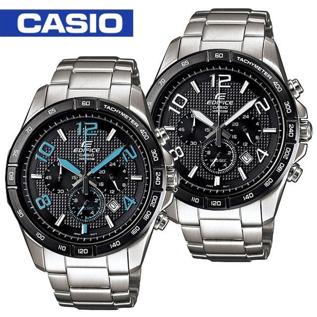 【CASIO 卡西歐 EDIFICE 系列】日系三眼賽車視距儀運動錶(EFR-516D)