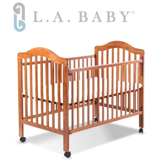 【美國 L.A. Baby】米爾頓嬰兒大床(咖啡色)