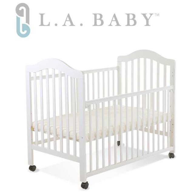 【美國 L.A. Baby】米爾頓嬰兒大床(白色)