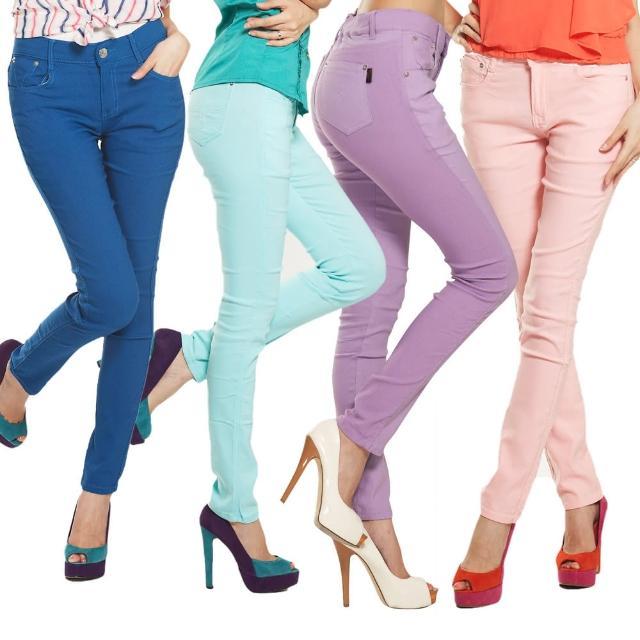 【RH】褲頭超彈力繽紛新時尚顯瘦長褲(時尚纖細12色全尺碼S-3L)