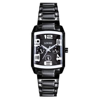 【LOVME】魔幻立體空間時尚腕錶-IP黑x白刻度(VS0363L-33-322)