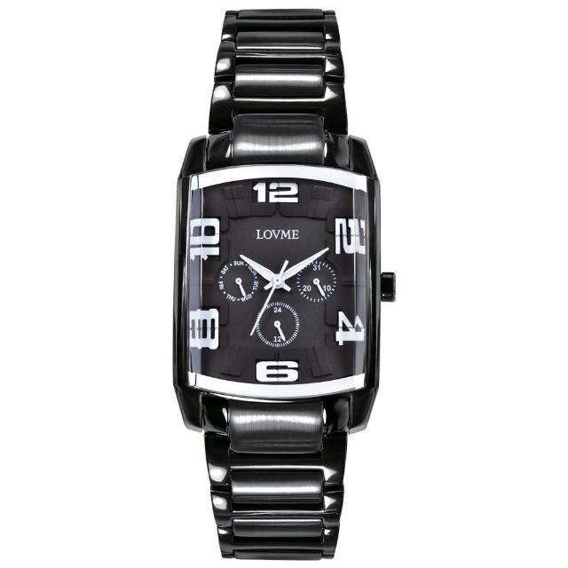 【LOVME】魔幻立體空間時尚腕錶-IP黑x白刻度(VS0363M-33-322)