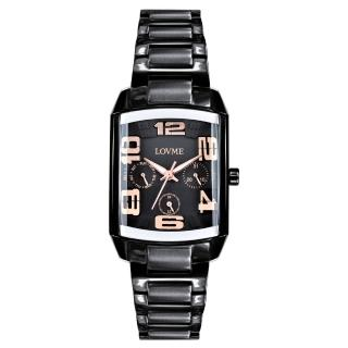 【LOVME】魔幻立體空間時尚腕錶(IP黑x玫瑰金刻度)