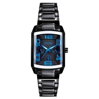 【LOVME】魔幻立體空間時尚腕錶(IP黑x藍刻度)