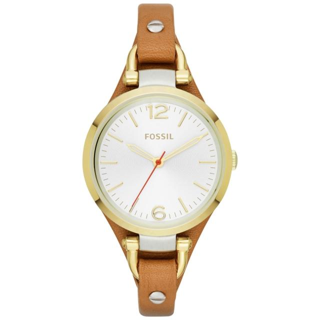 【FOSSIL】森林鄉頌時尚都會腕錶-半金(ES3565)