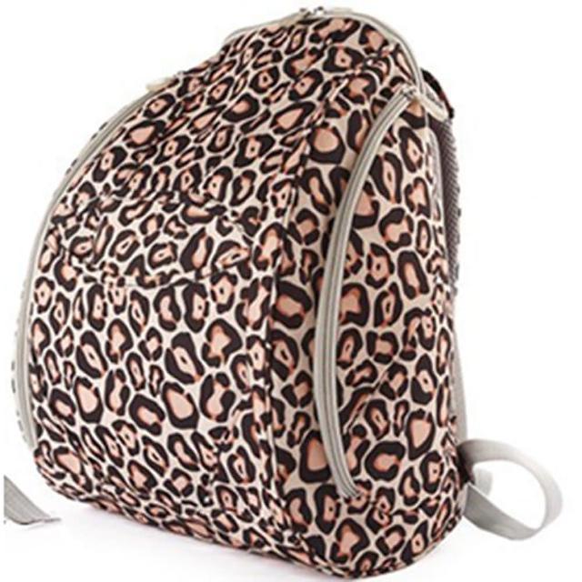 【Osun】防潑水無毒超容量媽咪包、媽媽包(豹紋款雙肩前/後背包)
