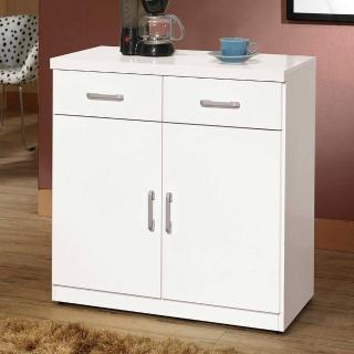 【H&D】席亞白色簡約2.7尺雙門碗盤櫃下座