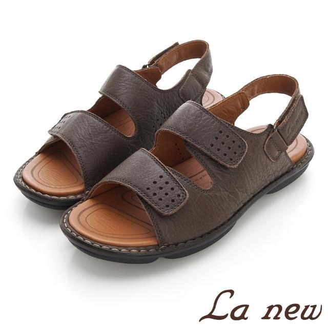 【La new】雙密度PU氣墊涼鞋(男214055121)