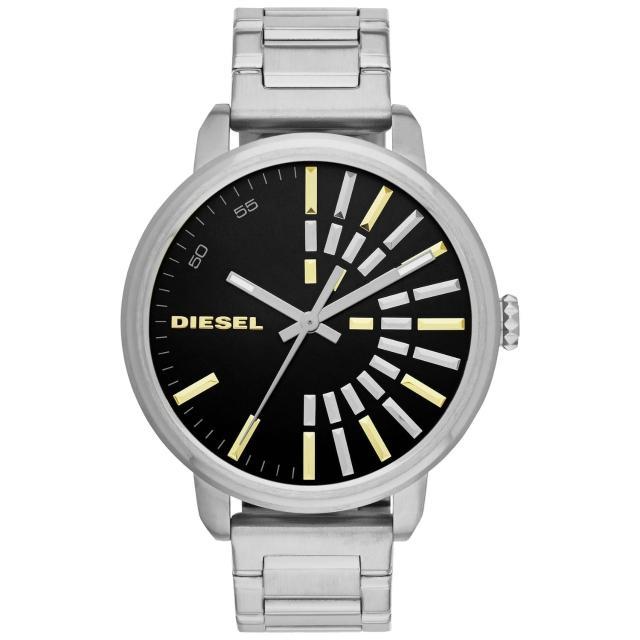 【DIESEL】綻放帥氣光芒個性腕錶-銀(DZ5419)
