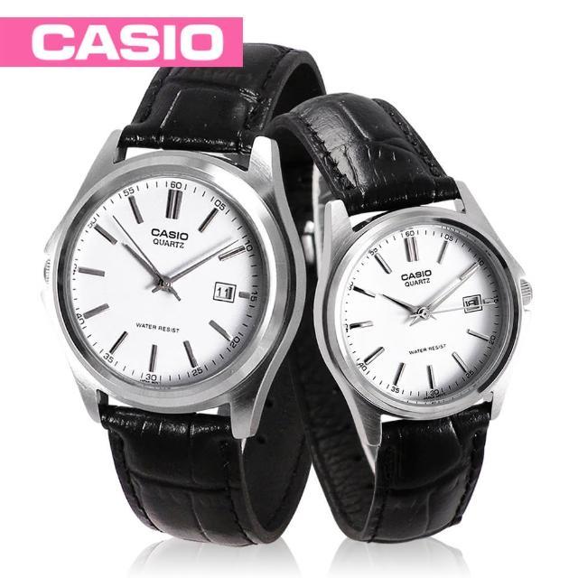 【CASIO 卡西歐】送禮首選-甜蜜情人對錶-(MTP-1183E+LTP-1183E)
