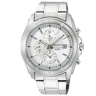 【SEIKO 精工】日系經典款三眼賽車計時腕錶(SNDB61P1)