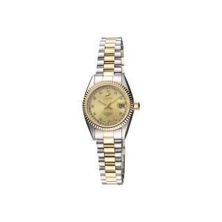 【ENICAR】英納格 自動系列恆動晶鑽機械女錶-金x雙色版/24mm(778-52-18GI)