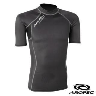 【AROPEC】機能型短袖壓力衣男款(黑)
