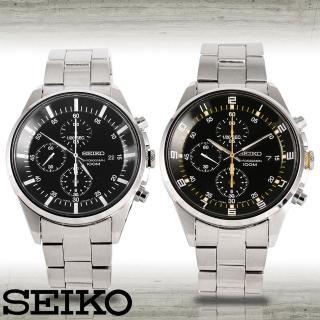 【SEIKO 精工】時尚三眼競速賽車腕錶(SNDC81P1-SNDC89P1)