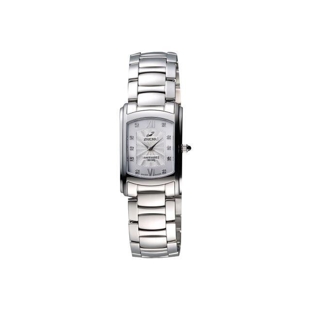 【ENICAR】英納格 優雅女仕晶鑽女錶-銀/20mm(262-30-130aA)
