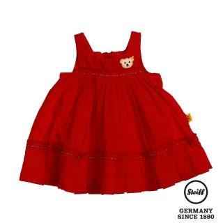 【STEIFF德國精品童裝】無袖 洋裝 連身裙 紅(連身洋裝/褲)
