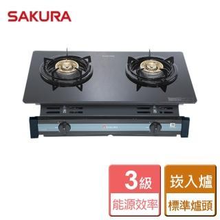 【櫻花SAKURA】G-6500KG(雙口玻璃崁入爐)