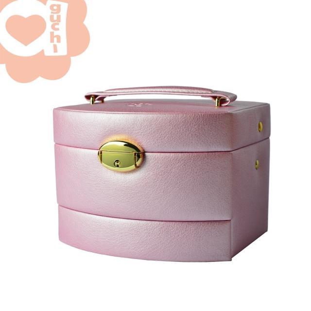 【亞古奇 Aguchi】皇家風範優雅粉-袖珍版(氣質貴族系列珠寶盒)