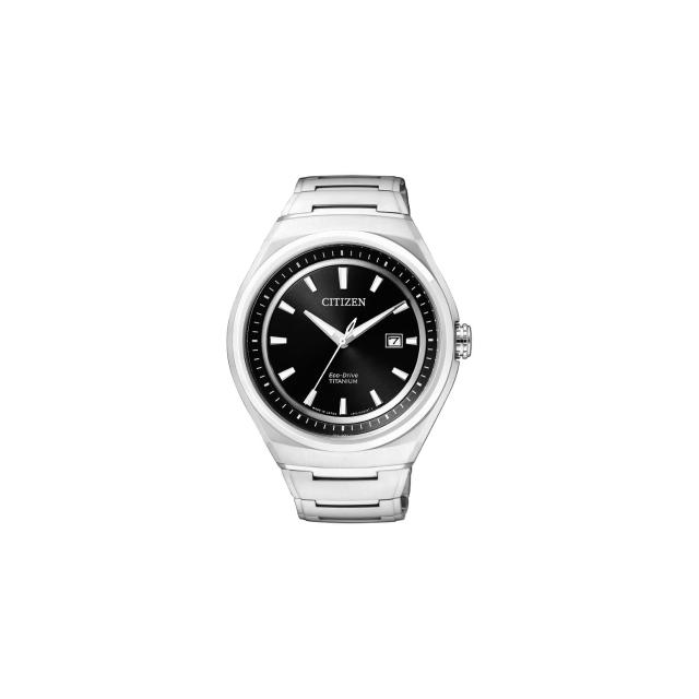 【CITIZEN】ECO-Drive 超級鈦都會時尚腕錶-黑/43mm(AW1251-51E)