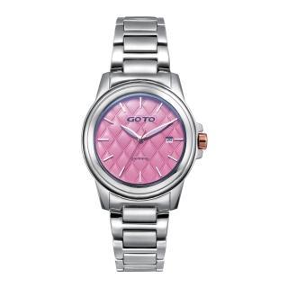 【GOTO】Rhombus時尚腕錶-粉(GS9983L-2S-841)