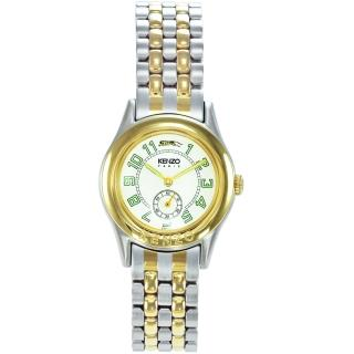 【KENZO】尊爵品味時尚腕錶-中金x米白色(KN7503B01)