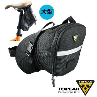 【TOPEAK】Aero Wedge Pack Large大後座墊袋-黑